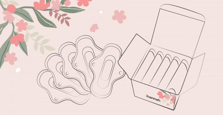 Coffret mono-taille de serviettes hygiéniques lavables hannahpad